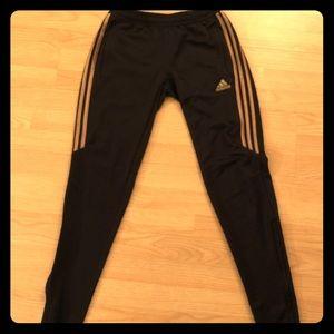 Black and Gold ADIDAS soccer pants